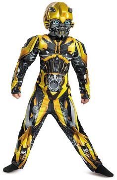 Disguise Transformers Bumblebee Muscle Costume (Little Boys & Big Boys)