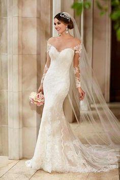 Robe de marié manche longue