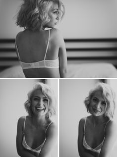 Love the top photo.  Black and White Boudoir