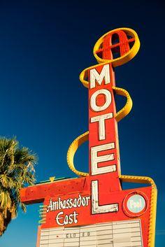 Retro Motel Sign.