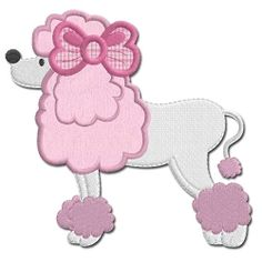 Paris Poodle Applique - 5x7 | What's New | Machine Embroidery Designs | SWAKembroidery.com Embroidershoppe