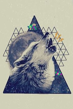 sacred geometry inspiration for wanderlust.com // wolf moon // howl at the moon