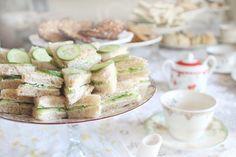 Tea sandwiches buffet set up