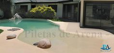 Fotografías de piscinas de arena | Piletas de Arena - La Playa en tu Casa Color Schemes Design, Tiny Spaces, Home Deco, Swimming Pools, Natural, House Plans, Patio, Luxury, Backyard Pools