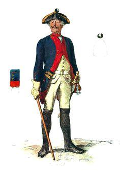 SOLDIERS- Menzel: SYW- Prussia: Prussian Infantry Regiment von Kalckstein No 25, by Adolph Menzel.