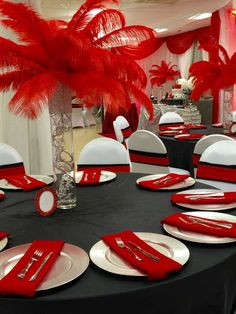 Place settings at a Hollywood birthday party! See more party planning ideas at CatchMyParty.com!