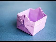 Оригами. Origami. Коробочка оригами Box origami 折り紙, 종이 접기 - YouTube