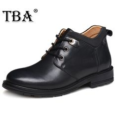 TBA 5858# New High Quality Men's Martin Boots Cow Split Upper Outsole Male Ankle Boots British Cool Style Boots Walking Shoes