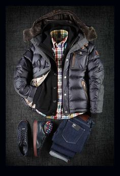 Well dressed in casual winter layers Mode Outfits, Casual Outfits, Men Casual, Casual Winter, Casual Trends, Winter Wear, Casual Shirts, Casual Dresses, Mode Masculine