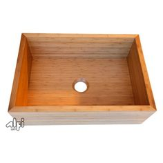 ALFI AB3021 30 in. Single Basin Bamboo Farmhouse Kitchen Sink - Kitchen Sinks at Hayneedle