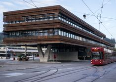 Built by peterlorenzateliers  in Innsbruck, Austria with date 2013. Images by Paolo Utimpergher. -The alignment with the surrounding and the incorporation of the street space.  -The establishment of a prominent, pr...