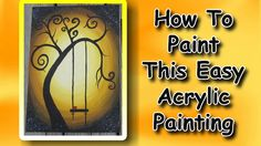 How To Paint An Easy Acrylic Painting For Beginners An EASY step by step tutorial on how to paint with acrylics. This will make an awesome fall decoration. :) VIDEO TUTORIAL: http://youtu.be/ZvwuNuSdIXk