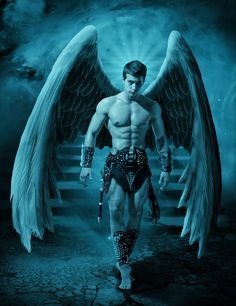 Dark Angel by on DeviantArt Male Angels, Angels And Demons, Fantasy Male, Dark Fantasy, Types Of Angels, Angel Man, Angel Warrior, Gay Art, Mythical Creatures