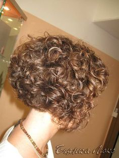 Super Cute Stacked Inverted Bob Curly Hair Its All