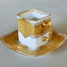 Demitasse cup Antique cup and saucer Limoges Cup And Saucer Set, Tea Cup Saucer, Vintage Tea, Teapots And Cups, Teacups, Antique Tea Cups, China Tea Sets, Chocolate Cups, Fun Cup