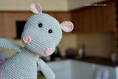 Crochet #amigurumi #Hippo [#ballerina , #tutu  skirt, #handmade  toy, #babygirl  shower #giftideas ]