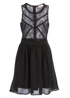 Flirty Black Swing Dress with Sheer Rosette Lace Top and Exposed Zip Up Racerback - Size Large Pretty Attitude http://www.amazon.com/dp/B00IJEX4L6/ref=cm_sw_r_pi_dp_5.urub0482PHP