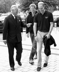 Prince Charles, Prince Harry, and Prince William, Duke of Cambridge