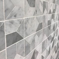 Carrara marble textured mosaic tiles