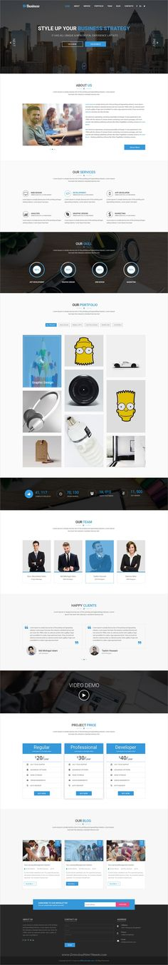 M-Business is a wonderful #PSD template for #onepage corporate #business websites download now➩  https://themeforest.net/item/mbusiness-one-page-corporate-and-business-template/19380896?ref=Datasata