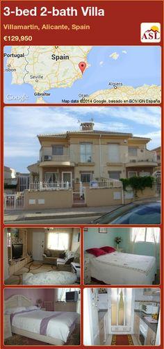 3-bed 2-bath Villa in Villamartin, Alicante, Spain ►€129,950 #PropertyForSaleInSpain