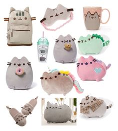 """""""Pusheen!!"""" by giraffe-garrison on Polyvore featuring Gund and claire's"""
