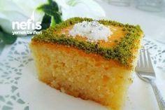 Klasik Revani (Tam Ölçülü Muhteşem) Tarifi Appetizer Recipes, Dessert Recipes, Appetizers, Yummy Recipes, Cookie Desserts, Avocado Toast, Cornbread, Deserts, Food And Drink