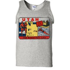 Vintage State Sticker Utah Asst Colors Tank Top - California Republic Clothes