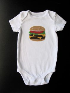 d54c8fd71 Items similar to Hamburger Bodysuit, Funny Baby Gift, Foodie Gifts, Burger  Shirt, Cheeseburger Onsie, Felt Food, Baby Bodysuit, Baby Boy Clothes on  Etsy