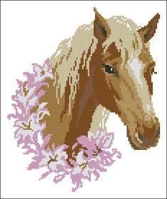 """Сачать схему вышивки """"Лошадь"""""""