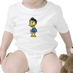 Infant creeper with cartoon duck
