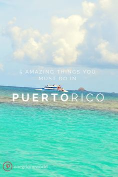 Puerto Rico is a beautiful island with plenty of things to do - but these 5 are an absolute must! Don't believe me? See for yourself! #puertorico