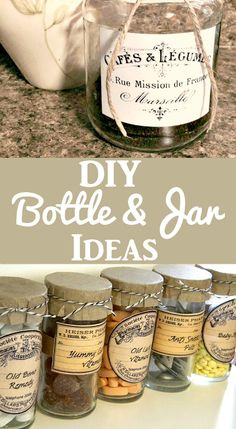 DIY Decorating : 15 DIY Bottle and Jar Ideas and Projects. Great Ideas for transforming glass containers into fun Vintage Style decorative storage pieces for your Home. Perfect for Farmhouse Style! Graphics Fairy -Read More – Fes, Light Fixture Makeover, Diy Locker, Diy Wood Wall, Diy Blanket Ladder, Bath Bomb Recipes, Fru Fru, Diy Bottle, Graphics Fairy
