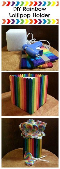 Tutorial para hacer base para chupetes con palitos de madera. #ManualdiadesParaFiestas