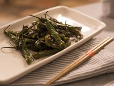 Shishito Peppers with Soy-Ginger Sauce : Recipes : Cooking Channel