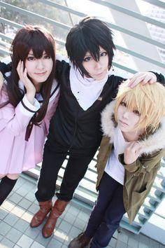 cosplay noragami yato, Hiyori e Yukine Cosplay Anime, Noragami Cosplay, Epic Cosplay, Amazing Cosplay, Cosplay Outfits, Group Cosplay, Disney Stitch, God Of War, Kawaii