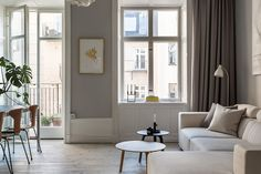 Stunning photos of a small apartment in Stockholm have me looking forward to moving to the city even more than ever. I am in love with o...