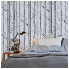Papier peint - Cole and Son - Woods  - Silver foil & Black