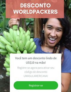 Desconto Worldpackers - Como aplicar o cupom de -$10 e ser membro Fruit, Blog, World Traveler, Discount Codes, Travel Tips, Blogging