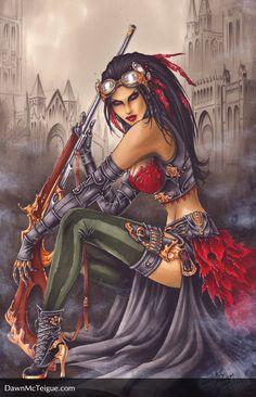 Lady Mechanika by Dawn McTeigue Steampunk Images, Victorian Steampunk, Steampunk Fashion, Gothic, Diesel Punk, Comic Books Art, Comic Art, Fantasy World, Fantasy Art