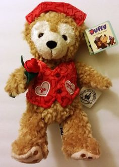 "DISNEY PARKS EXCLUSIVE : 2012 9"" Valentine Duffy Bear LIMITED EDITION Disney Parks"