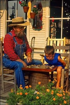 Mountain View, Arkansas:  Nightly jam sessions on the square and home of Ozark Folk Center State Park