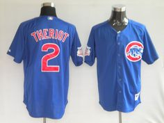 Ryan Theriot Blue Jersey $18.99 This jersey belongs to ryan theriot, Chicago Cubs #2  Color: blue Size: M, L, XL, XXL, XXXL  The jersey is made of heavy fabric with nylon diamond weave mesh  Player number, name embroidered on back