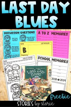 The end of the school year is quickly approaching. One of my favorite stories to share is Last Day Blues by Julie Danneberg. In this story, the children End Of Year Activities, Reading Activities, Classroom Activities, Reading Centers, Holiday Activities, Classroom Ideas, First Day Jitters, School Teacher, Teacher Stuff