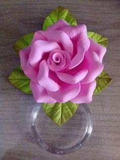 Herthal art's: Porta pano de prato decorado com rosa de e.v.a, He...