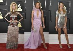 Móda z Grammy: Večer ovládol tehotenský štýl Beyoncé a blond hriva Katy Perry Základnými prvkami dámskych rób boli flitre a lesk.