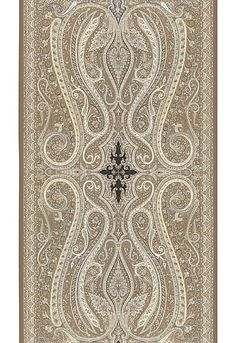 Pasha Paisley in Stone | Schumacher Wallcovering