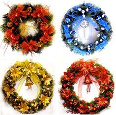 http://www.pokoopka.com/item/21235004087 Рождественские венки разных цветовых гамм.