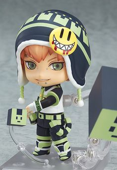 """""""DRAMAtical Murder"""" Noiz Nendoroid Figures Go On Sale: From the popular PC game 'DRAMAtical Murder' comes a Nendoroid of the genius Rhymer, Noiz! He comes with three expressions including his standard calm expression and a provocative smile. Her cube-type 'ALL-MATE' Usagimodoki is included in two different sizes for all sorts of posing options. His optional parts also allow you to pose him sitting down, or without his hat - simply select the pose that you think suits him best! (Dec 2014)"""