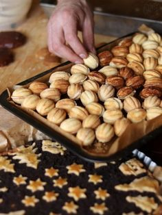Peanut cookies and Christmas sweets - Sowiarnia - One Decoration Shaped Cookies Recipe, Drink Recipe Book, Peanut Cookies, Polish Recipes, Christmas Sweets, Good Healthy Recipes, Cookie Recipes, Almond, Food And Drink
